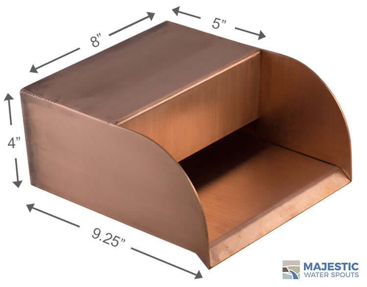 "Picard<br> 8"" Cascading Scupper - Copper"