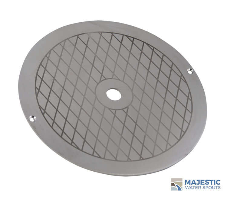 "Alanso <br> 9 3/4"" Round Skimmer Lid - Stainless Steel"