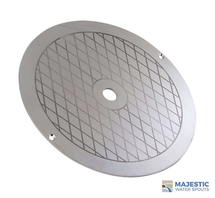 SS Alanso 9 3/4 Round Skimmer Lid for Hayward and Pentair Skimmers Majestic Water Spouts