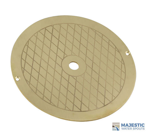 Brass Alanso Skimmer Lid 9 3/4 Majestic Water Spouts for Round Hayward and Pentair Skimmers