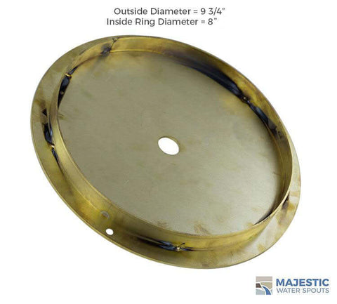 Brass deck lid for 9 3/4 round pentair and hayward skimmer