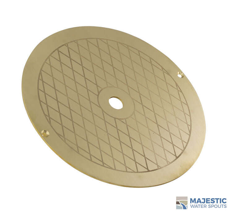Brass Alanso Skimmer Lid 9 3/4 Deck Lid for round Pentair and Hayward Skimmers