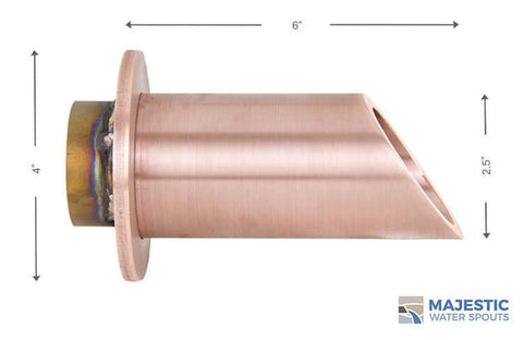 Copper Water Fountain Spout Scupper, Round