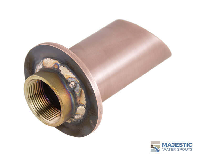 Copper water spout for pool or fountain water feature