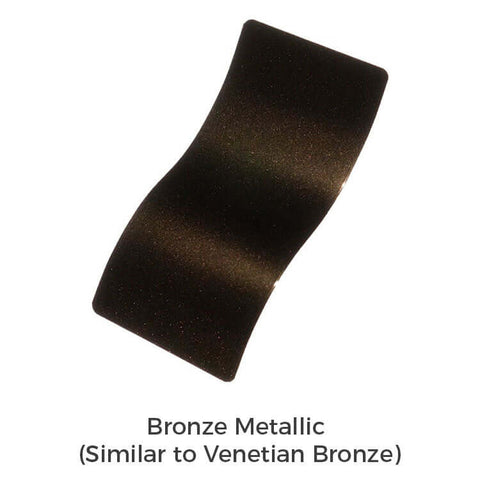 Bronze metallic powder coat color sample for galleria decorative shower drain