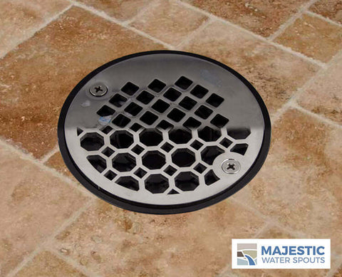 "Designer SS 4"" Shower Drain cover by Majestic Water spouts"