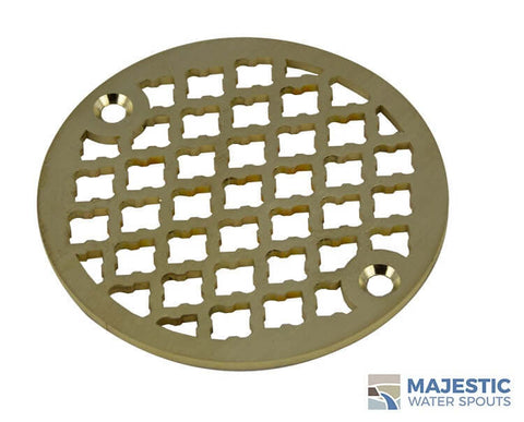 "Monet <br> 4"" Round Drain Cover - Brushed Brass"