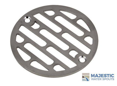 "Galleria <br> 4"" Round Drain Cover - Brushed Stainless"