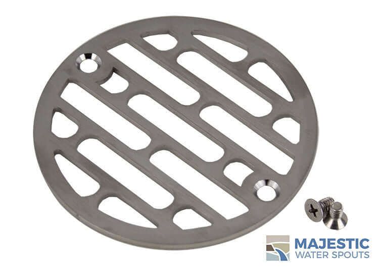 Majestic Water Spouts 4 in stainless steel shower drain cover for decoration