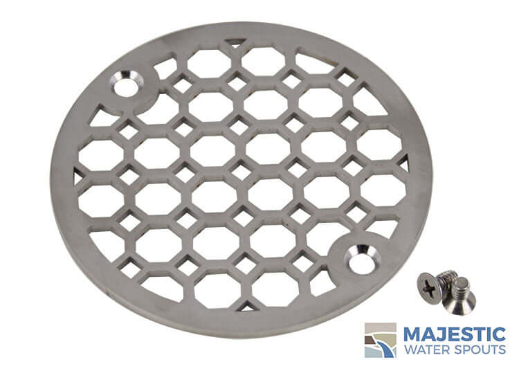 4 inch decorative stainless steel shower drain cover