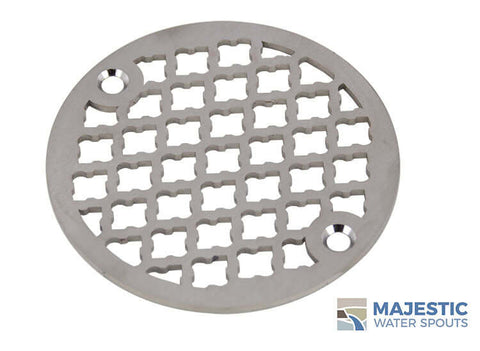 "Monet <br> 4"" Round Drain Cover - Brushed Stainless"
