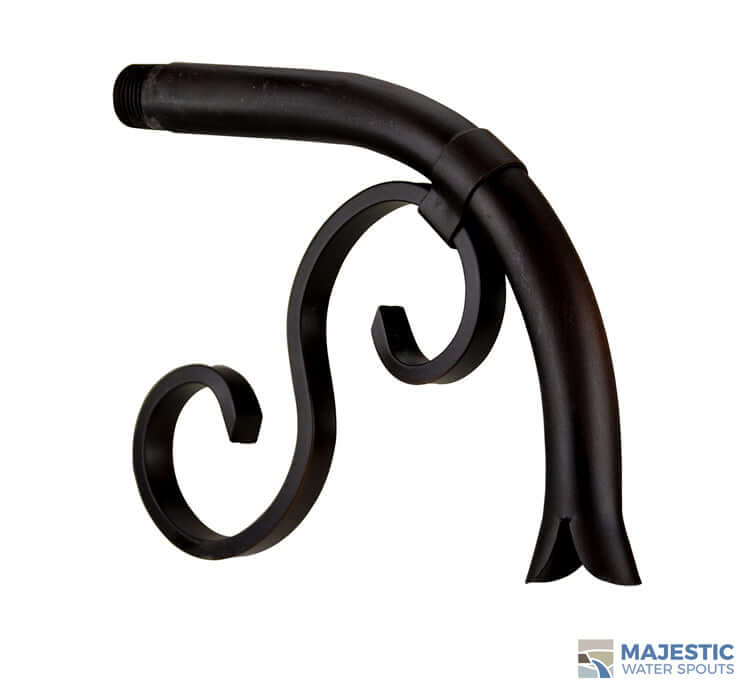 Pirro <br>Small Old World Water Spout - Dark Copper