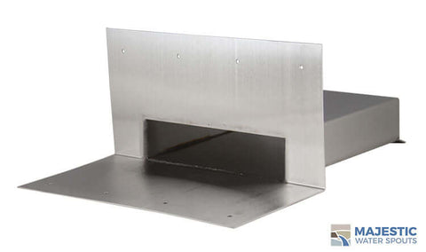 "Eaton <br> 8"" Rectangle Roof Drainage Scupper - Stainless Steel"