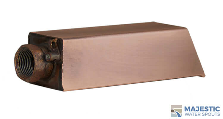 "Ericsson <br> 2"" Square Water Spout - Brushed Copper"