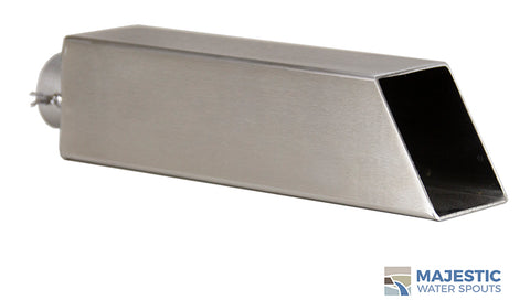 "Ericsson <br> 2"" Square Water Spout - Stainless Steel"