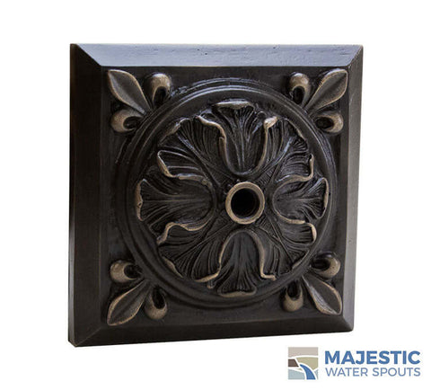 Oil Rubbed Henry Bronze Large Gothic Water fountain emitter at Majestic water spouts
