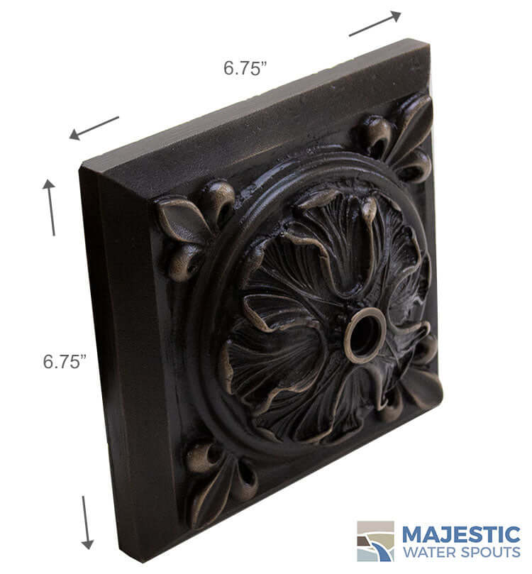 Decorative classical water fountain emitter in oil rubbed bronze