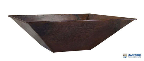 "Mesa <br> 31"" Square Planter Bowl - Hammered Copper"