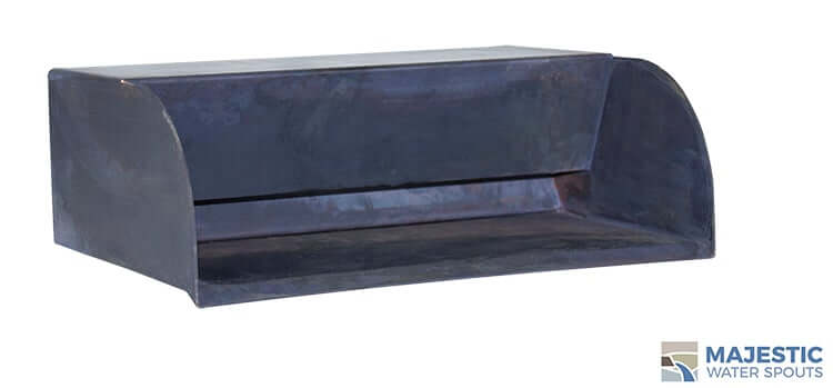 "12"" Picard <br> Black Patina Copper Water Scupper"