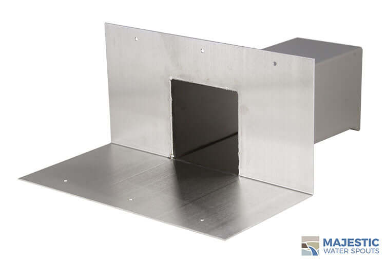"Nelson <br> 4"" Box Roof Drainage Scupper - Stainless Steel"