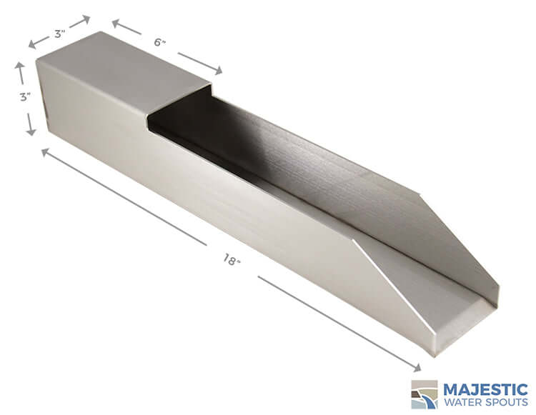 "Oliveria <br> 18"" Waterfall Scupper - Stainless Steel"