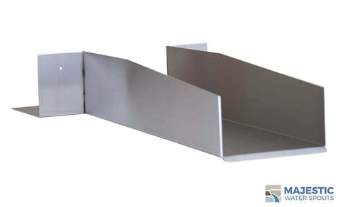 "Rossi <br> 6"" Open Top Roof Drainage Scupper - Stainless Steel"