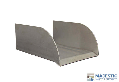 "5"" Lombardi <br> Stainless Steel Lipped Spillway"