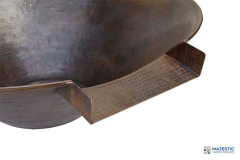 "Solana <br> 31"" Round Water Bowl - Hammered Copper"