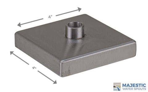 Clarke <br> Small Square Modern Emitter - Stainless Steel