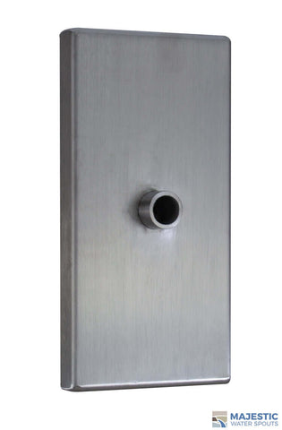 Clarke <br> Small Rectangular Modern Emitter - Stainless Steel