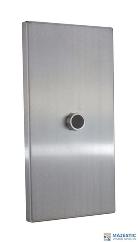 Clarke <br> Large Rectangular Modern Emitter - Stainless Steel