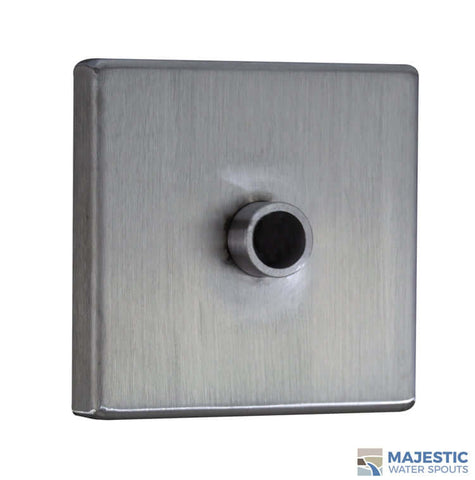 Clarke <br> Large Square Modern Emitter - Stainless Steel
