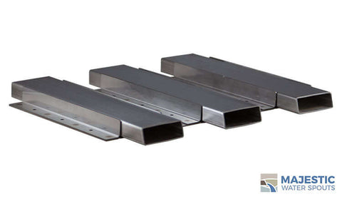 Stainless Steel Tishway spillway for pool and spa by Majestic water spouts