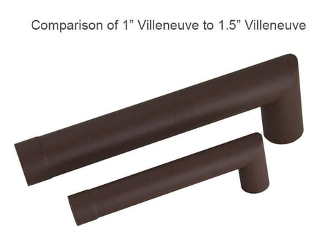 "Villeneuve <br> 1"" Water Fountain Spout - Textured Rust"