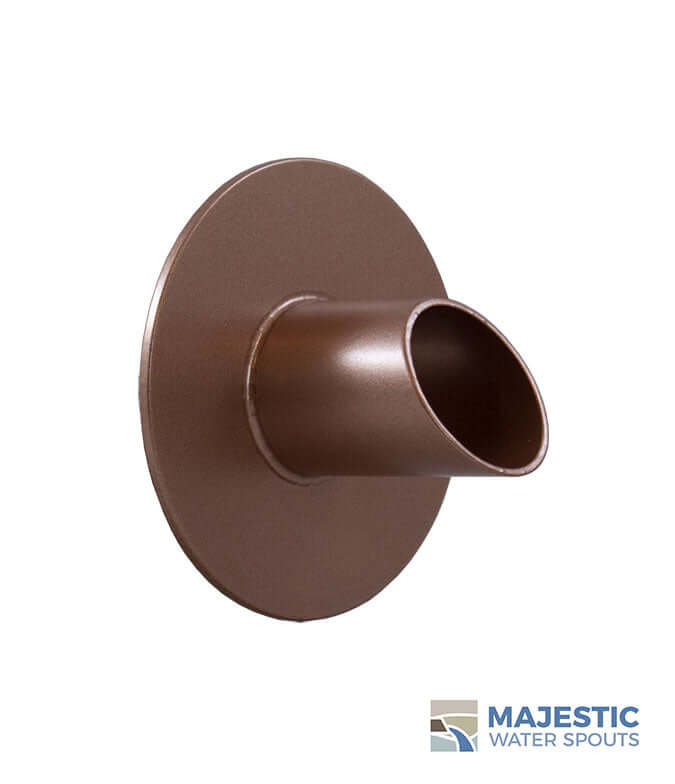 "Waverly<br>1.5"" Round Water Spout - Copper Style"