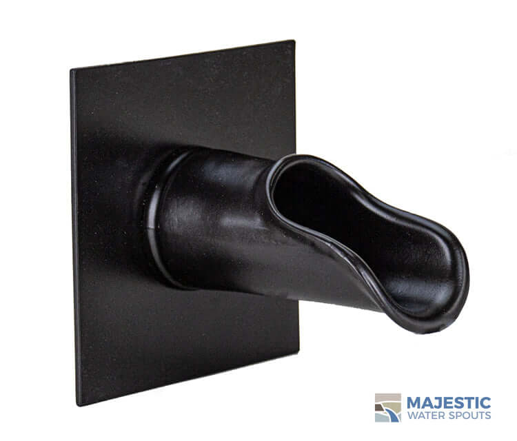 Bruni <br> Water Fountain Scupper - Rubbed Black