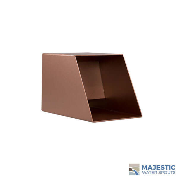 "Cecetto <br>4"" Square Water Spout - Copper Style"