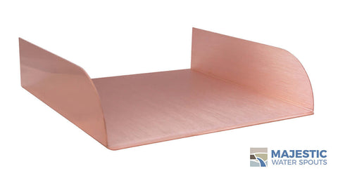 "Lombardi<br>12"" Spa-to-Pool/Fountain Spillway - Copper"