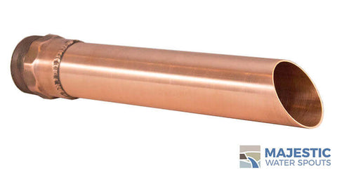 Copper 1.5 inch Keegan Round Tube Water spout for pool water feature and water fountain by Majestic Water Spouts