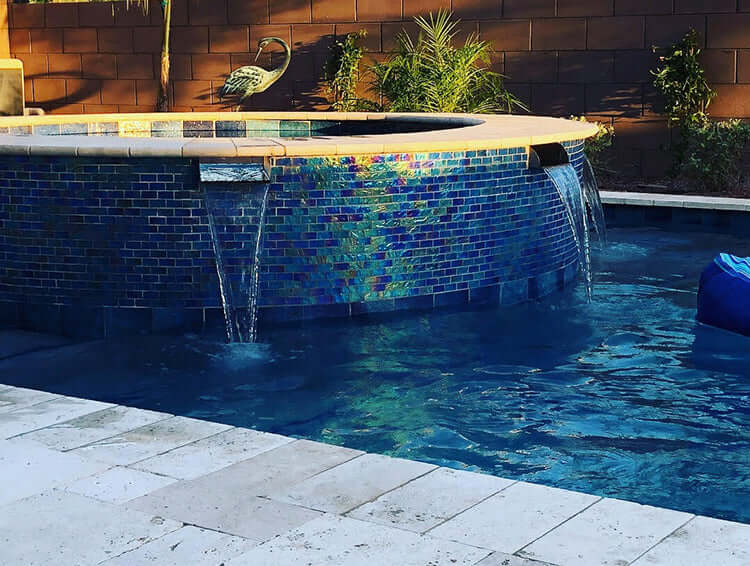 "Lombardi<br>12"" Spa-to-Pool/Fountain Spillway - Stainless Steel"