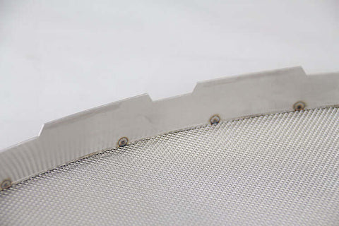 "24"" x 9"" Oval Splash Guard - Stainless Steel"