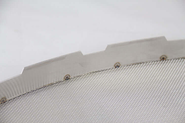Square Splash Guard Scalloped Edge Stainless Steel SS