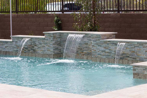 "Tomaso <br> 72"" Smooth Water Spillway - Gray"