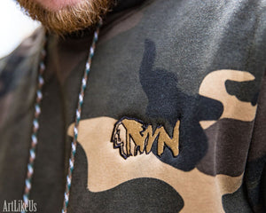 MWN Green Camo Chief Hooded Sweatshirt