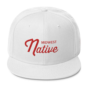Midwest Native Wisconsin Red / White Snapback