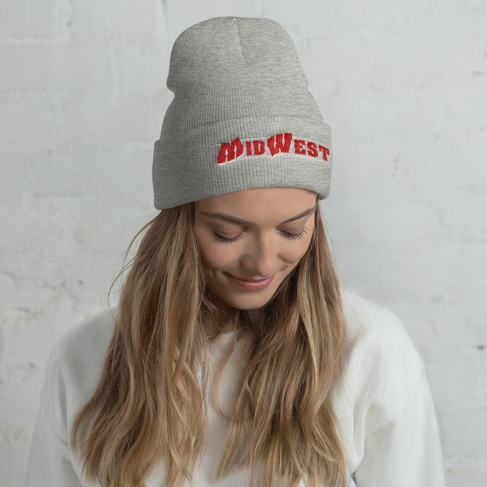 Midwest Script Flipped Beanie