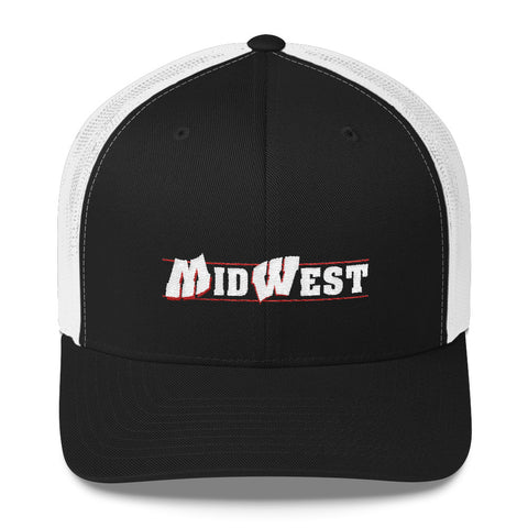 Midwest Script Flipped Mesh Snap-back Hat