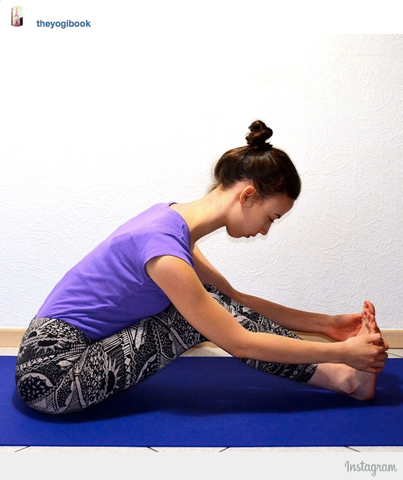 modified pashimottanasana