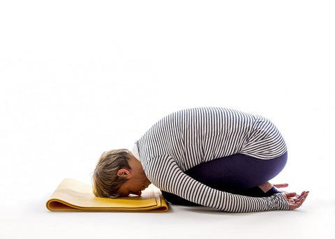 yoga for menopause padded child pose