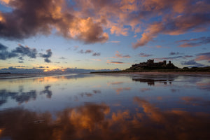 "Bamburgh Castle, Northumberland, 22""x18"" (58x48cm) Framed Photography Print"
